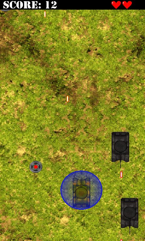 Screenshot of game - Tank Run Pro